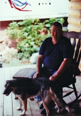 Dad and Virginia. You knew there had to be a dog in this post....